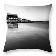 Dunaverty Boathouse Throw Pillow