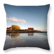 Dunaverty Rock Reflections Throw Pillow