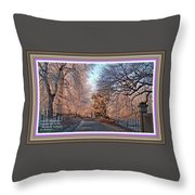 Dundalk Avenue In Winter. L A With Alt. Decorative Printed Frame. Throw Pillow