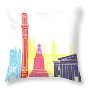 Dundee Skyline Pop Throw Pillow