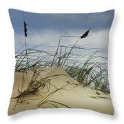 Dune And Beach Grass Throw Pillow