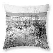 Dune - Black And White Throw Pillow