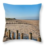 Dune Conservation Holme Dunes North Norfolk Uk Throw Pillow