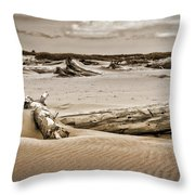 Dune Country Throw Pillow