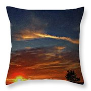 Dune Dreaming Impasto Throw Pillow