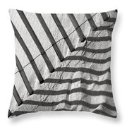 Dune Fence Throw Pillow