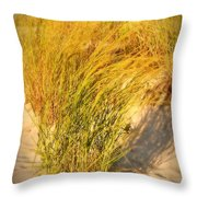 Dune Grass II  - Jersey Shore Throw Pillow by Angie Tirado