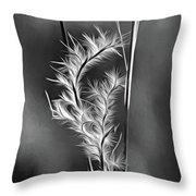 Dune Grass - Paint Bw Throw Pillow