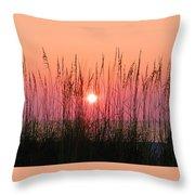 Dune Grass Sunset Throw Pillow