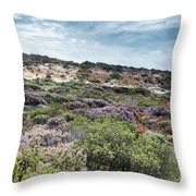 Dune Plants As Erica And Beautiful Sky Throw Pillow