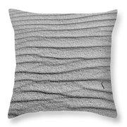 Dune Textures In Monochrome Throw Pillow