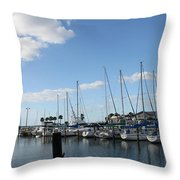 Dunedin Marina I Throw Pillow