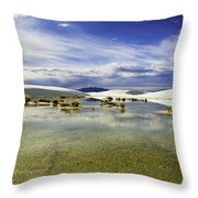 Dunes And Reflections Three Throw Pillow