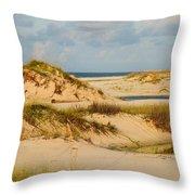 Dunes At Gulf Shore Throw Pillow