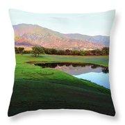 Dunes At Maui Lani Golf Course Throw Pillow
