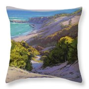 Dunes At Soldiers Beach Throw Pillow