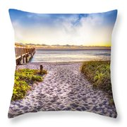 Dunes At The Pier Throw Pillow