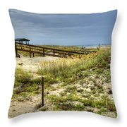 Dunes At Tybee Island Throw Pillow