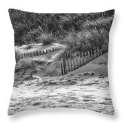 Dunes In Black And White Throw Pillow