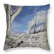 dunes in RI Throw Pillow