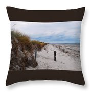 Dunes On A Blustery Day Throw Pillow