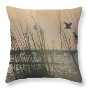 Dunes On The Bay Throw Pillow