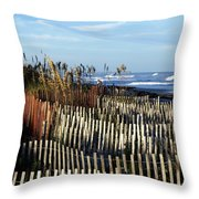 Dunes Throw Pillow by Valeria Donaldson