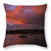 Dungarvan Harbor Sunset 2 Throw Pillow