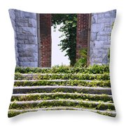 Dungeness Front Steps  Throw Pillow