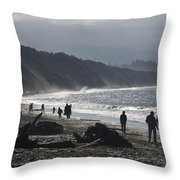 Dungeness Spit Throw Pillow
