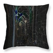 Dungeon Passage Throw Pillow
