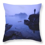 Dunks Point At Sunrise Throw Pillow