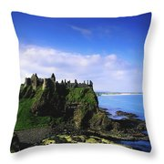 Dunluce Castle, Co Antrim, Irish, 13th Throw Pillow