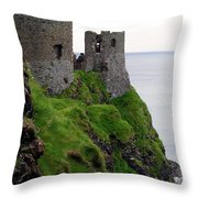 Dunluce Castle II Throw Pillow