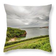 Dunmore East Cliffs Throw Pillow