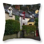 Dunmore Houses Throw Pillow