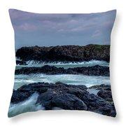 Dunseverick Harbour Throw Pillow