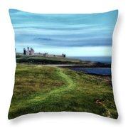 Dunstanburgh Castle Throw Pillow