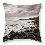 Dunstanburgh Castle Sunset Throw Pillow