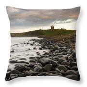 Dunstanburgh Castle Uk Throw Pillow