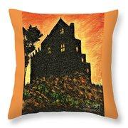 Duntrune Castle Argyll Scotland Throw Pillow