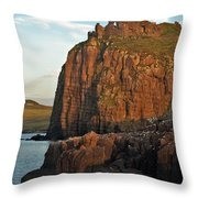 Duntulm Castle Throw Pillow