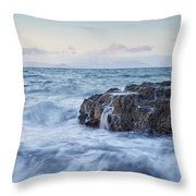 Dunure Beach Throw Pillow