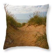 Nova Scotia's Cabot Trail Dunvegan Beach Dunes Throw Pillow