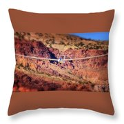 Duo Discus Over Red Rocks  Air Sailing Nevada Throw Pillow