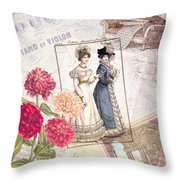 Duo For Piano And Violin Throw Pillow