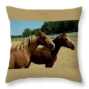Duo Profiles Throw Pillow