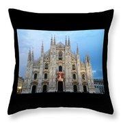 Duomo - Milan -italy Throw Pillow