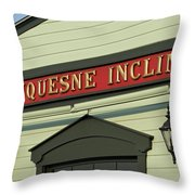 Duquesne Incline Throw Pillow