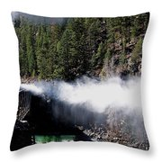 Durango Silverton Blowing Off Steam Throw Pillow